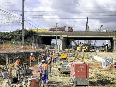 Image absente - [CDG EXPRESS] Réalisation d'une tranchée couverte de 600 mètres de long sous le RER B à Mitry-Mory dans le cadre du projet Charles de Gaulle Express